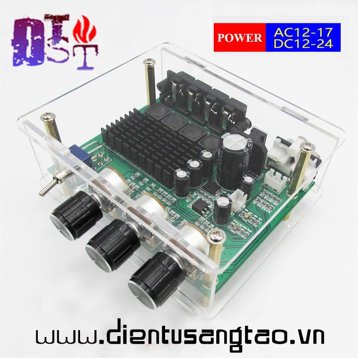 Bộ khuếch đại âm thanh kỹ thuật số ClassD 2.0 160W XH-M570 vỏ mica