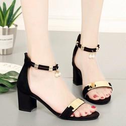 giày sandal got vuông quai vàng -pll6262