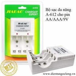 Bộ Sạc Pin Đa Năng Jiabao A612 Cho Pin AA-AAA-9V