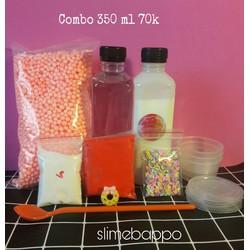 Combo nguyên liệu làm slime 1 được chọn màu keo sữa