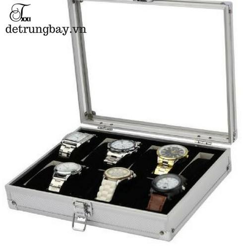 hộp đựng đồng hồ 12 ngăn bằng nhôm không rỉ - 5602574 , 9454130 , 15_9454130 , 500000 , hop-dung-dong-ho-12-ngan-bang-nhom-khong-ri-15_9454130 , sendo.vn , hộp đựng đồng hồ 12 ngăn bằng nhôm không rỉ