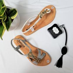 Sandal họa tiết bông