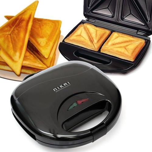 Máy nướng bánh mì sandwich Nikai khay chống dính cao cấp