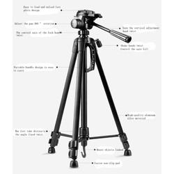 chân máy ảnh tripod WT3520 + Tặng kẹp điện thoại