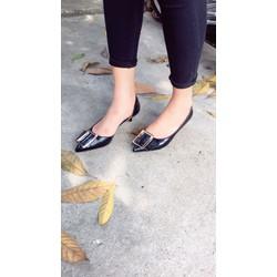 giày cao gót 3cm mũi nhọn hở eo