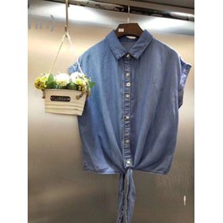 Áo bò giấy thắt nơ chất siêu mềm