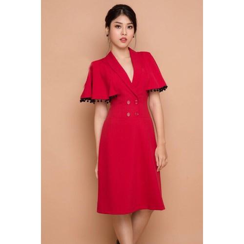 Đầm Suông Cổ Vest Tay Bèo - 5608820 , 9467225 , 15_9467225 , 498000 , Dam-Suong-Co-Vest-Tay-Beo-15_9467225 , sendo.vn , Đầm Suông Cổ Vest Tay Bèo