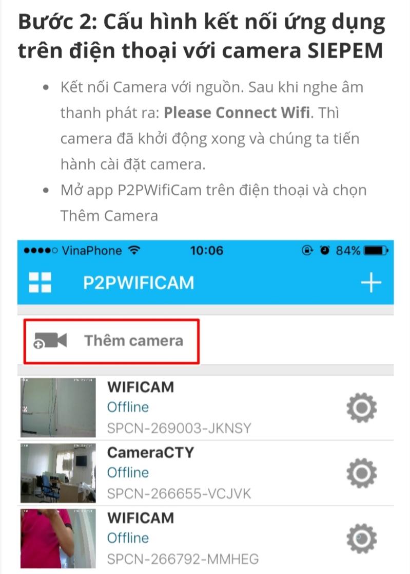 CAMERA WIFI SIEPEM S6265F 6