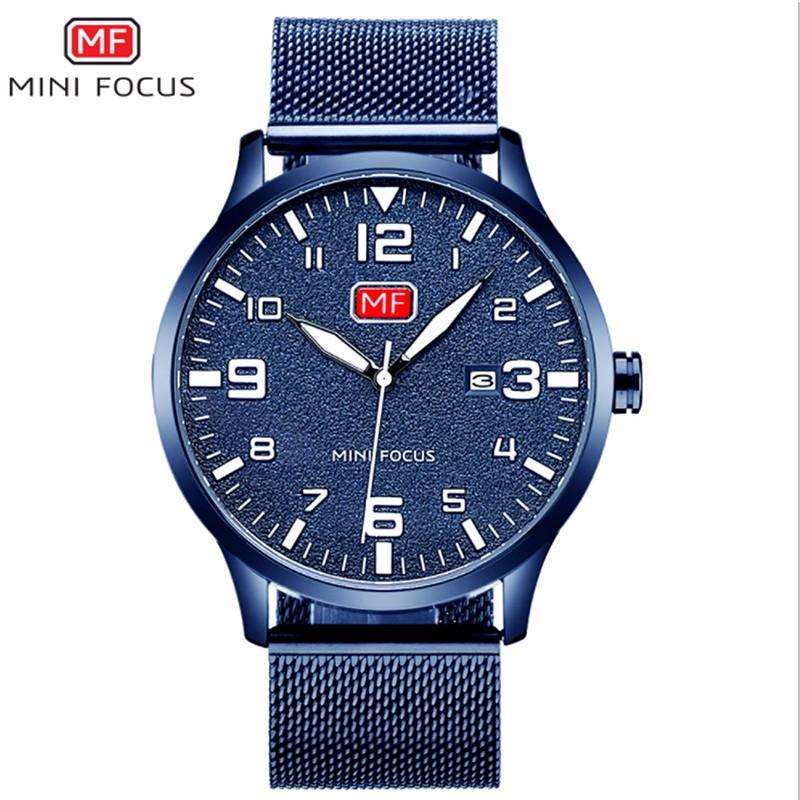 Đồng hồ thời trang nam Mini Focus MF0158G.08 dây kim loại - màu đen 4