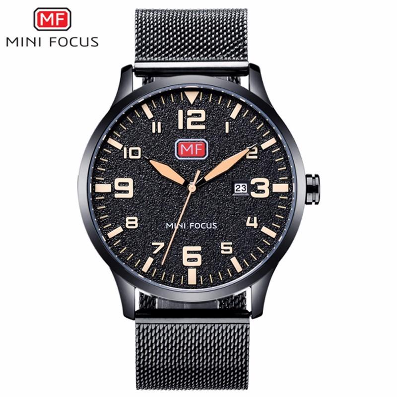 Đồng hồ thời trang nam Mini Focus MF0158G.08 dây kim loại - màu đen 3