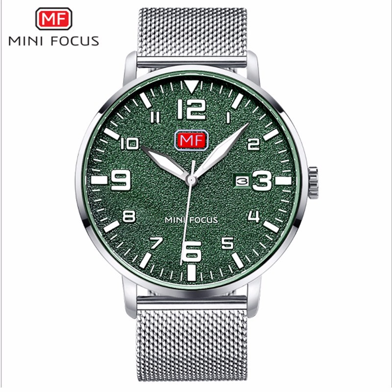 Đồng hồ thời trang nam Mini Focus MF0158G.08 dây kim loại - màu đen 5