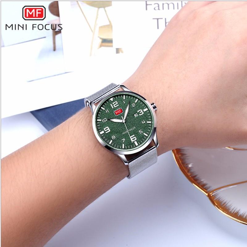 Đồng hồ thời trang nam Mini Focus MF0158G.08 dây kim loại - màu đen 7