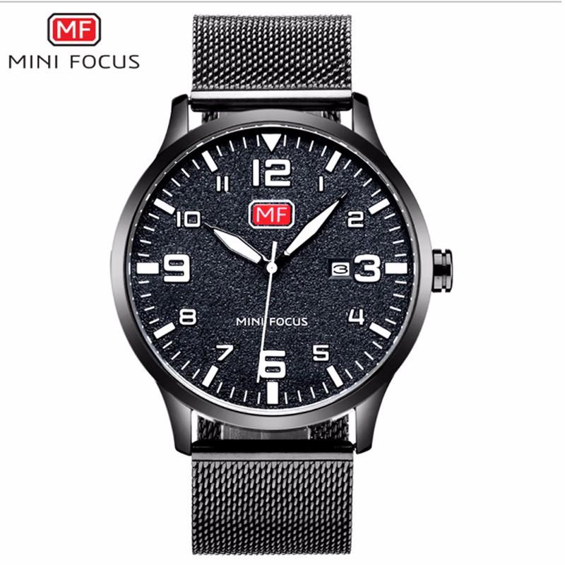 Đồng hồ thời trang nam Mini Focus MF0158G.08 dây kim loại - màu đen 2