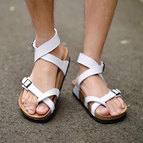 Giày sandal xỏ ngón cố cao quai pu trắng đế trấu unisex xuất khẩu - 5607323 , 9464535 , 15_9464535 , 500000 , Giay-sandal-xo-ngon-co-cao-quai-pu-trang-de-trau-unisex-xuat-khau-15_9464535 , sendo.vn , Giày sandal xỏ ngón cố cao quai pu trắng đế trấu unisex xuất khẩu
