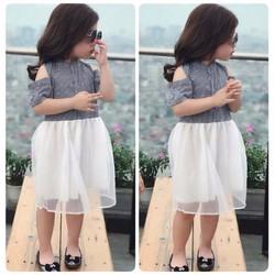 Váy bé gái_Phong cách thời trang trẻ sành điệu - Tặng vòng cho bé