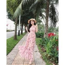 Đầm maxi voan Hoa siêu đẹp