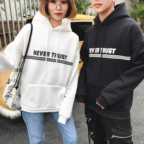 áo hoodie never trust Mã: AX3458 - TRẮNG