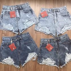 Quần short jean lưng cao GR4.20