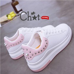 Giày Sneaker Nữ Đính Hạt Thời Trang