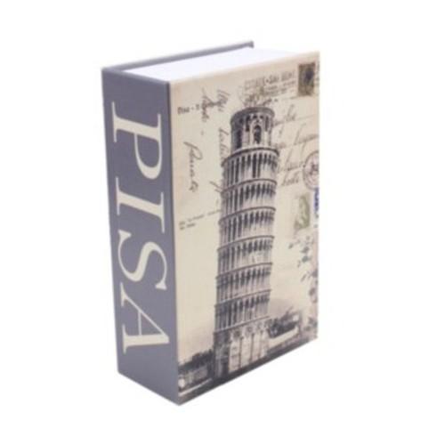 Két sắt mini giả quyển sách khóa chìa SIZE LỚN - Tháp Pisa