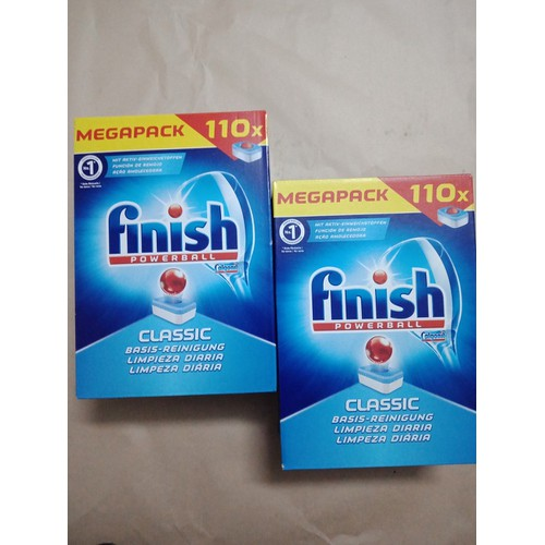 Combo 2 hộp viên rửa chén bát Finish 110 viên