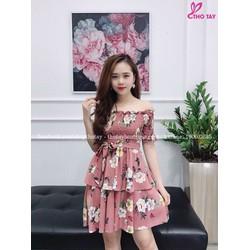 Đầm bệt vai hoa nhí quyến rũ chinh phục mọi cô nàng yêu thời trang