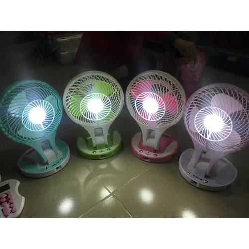 Quạt sạc mini để bàn có đèn LED 2 trong 1 - 5613879 , 9477318 , 15_9477318 , 160000 , Quat-sac-mini-de-ban-co-den-LED-2-trong-1-15_9477318 , sendo.vn , Quạt sạc mini để bàn có đèn LED 2 trong 1