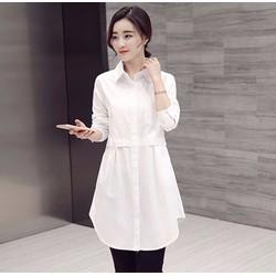 HÀNG ĐỦ SIZE: Đầm suông cổ sơ mi phối túi phong cách Hàn Quốc - DS22
