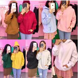 Áo hoodie trơn nhiều màu