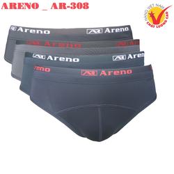 Combo 4 Quần lót nam Cao Cấp ARENO _ AR-308 Hai Lưng Thun Lạnh