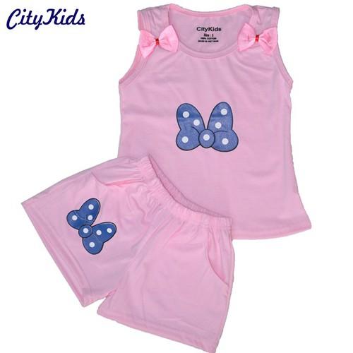 Quần áo trẻ em in hình con bướm CTKS03 Màu Hồng