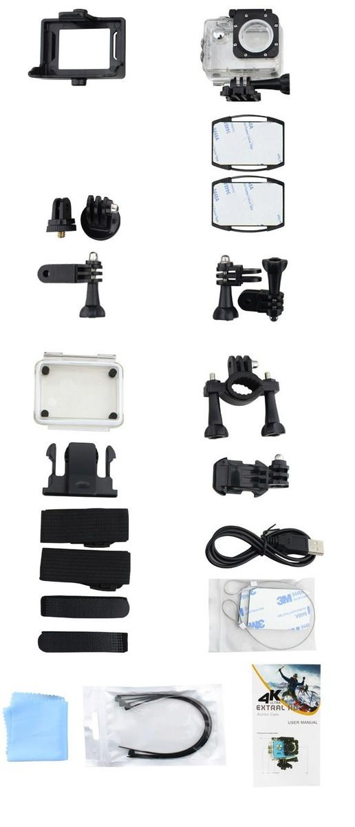 Camera hành trình, hành động Sport cam Wifi 4K ULTRA HD chống rung 9