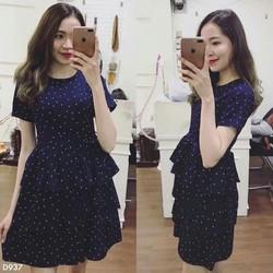 Đầm xòe tầng nữ chấm bi cực xinh