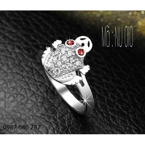 Nhẫn Nữ NU010 Trang sức nữ cao cấp, Phụ kiện nữ bền màu sản phẩm được bảo hành trọn đời.