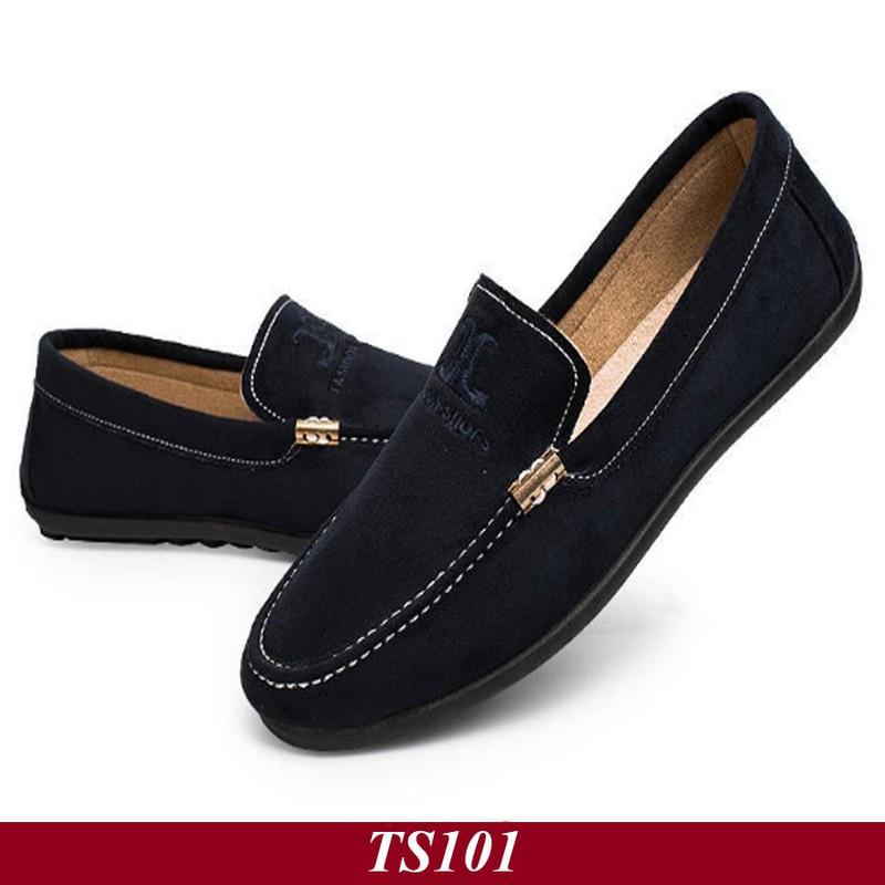 TS101 - Giày Lười Nam Hàn Quốc Màu Đen 3
