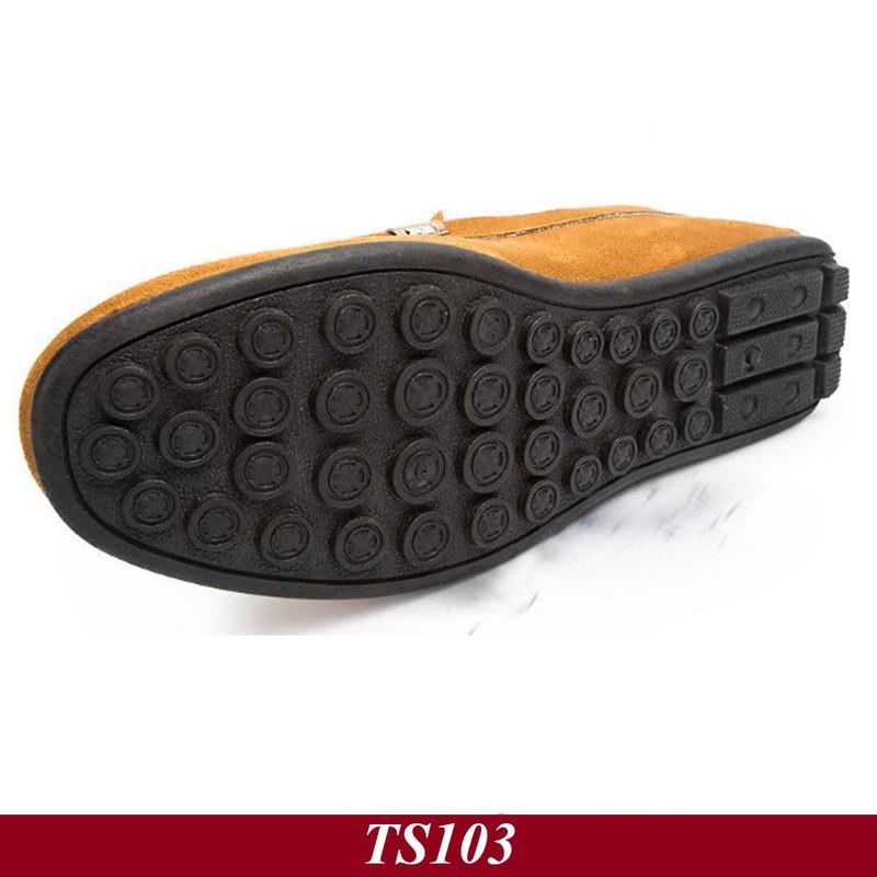 TS103 - Giày Lười Nam Hàn Quốc Màu Nâu Vàng 5
