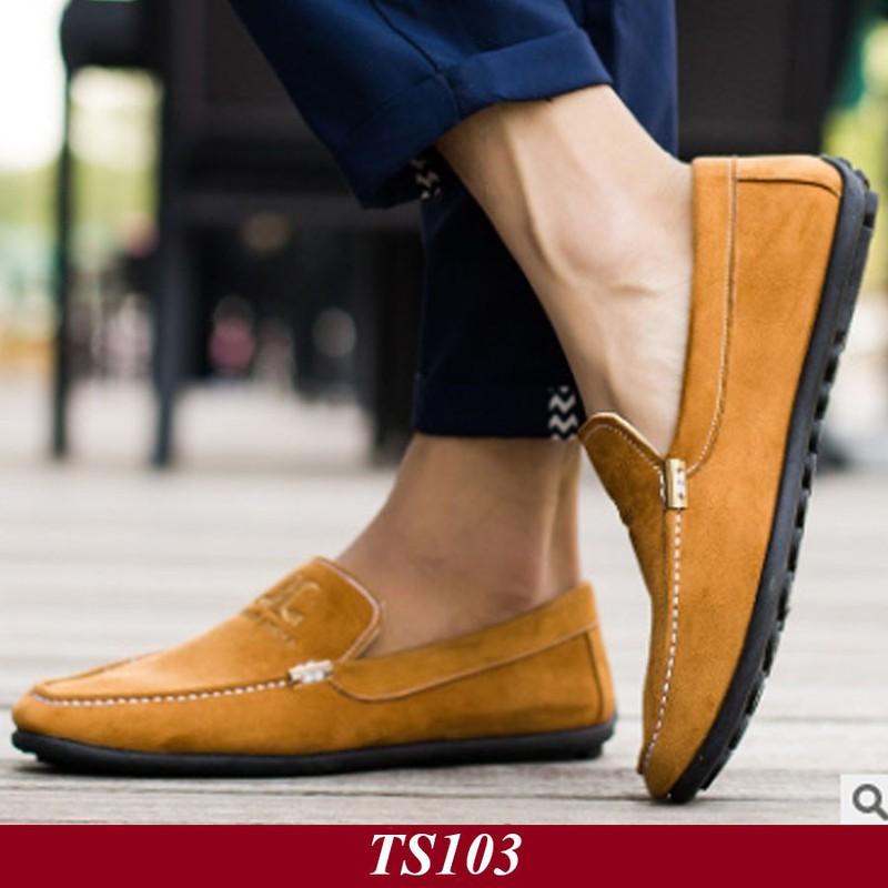 TS103 - Giày Lười Nam Hàn Quốc Màu Nâu Vàng 6