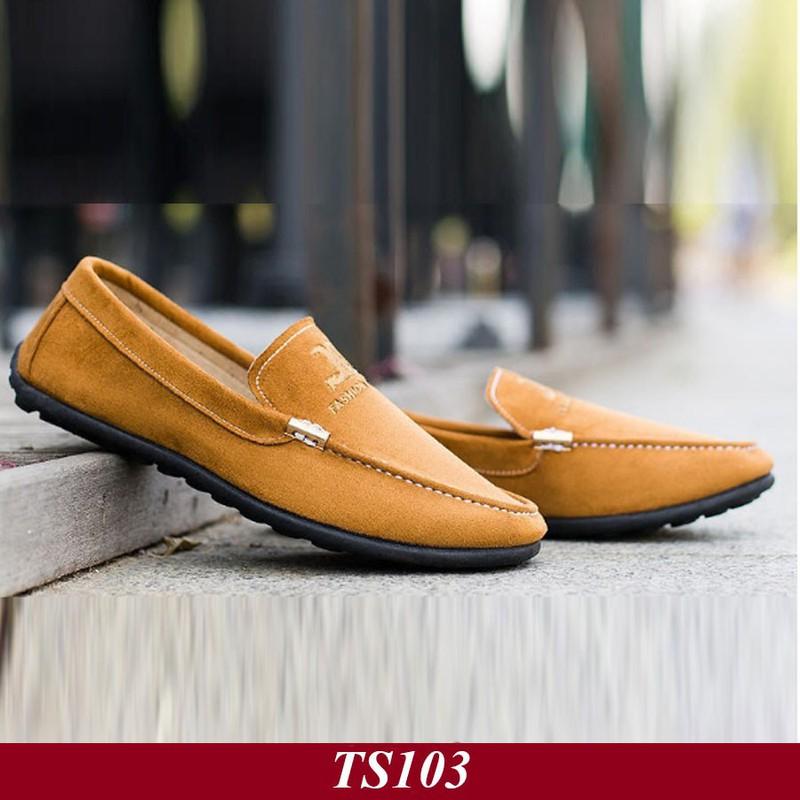 TS103 - Giày Lười Nam Hàn Quốc Màu Nâu Vàng 3