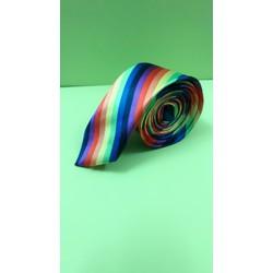 Cà vạt bản nhỏ bóng nhiều màu