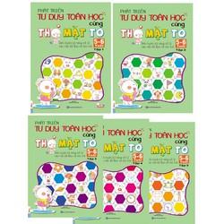 Combo 5 cuốn Phát triển tư duy cùng thỏ mặt to cho bé từ 5-6 tuổi