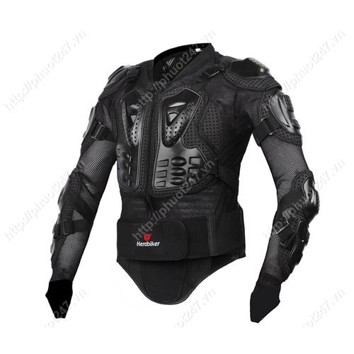 Áo giáp Hero Biker- đen