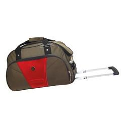 Túi kéo du lịch 2 bánh xe 5 tấc hành lý xách tay màu nâu đỏ TL440
