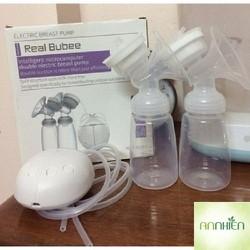 Máy hút sữa điện đôi Real Bubee cho mẹ và bé