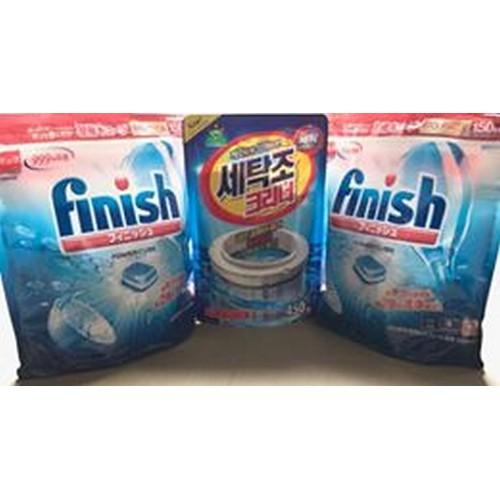 2 túi viên rửa bát finish 150 viên tặng tẩy lồng máy giặt