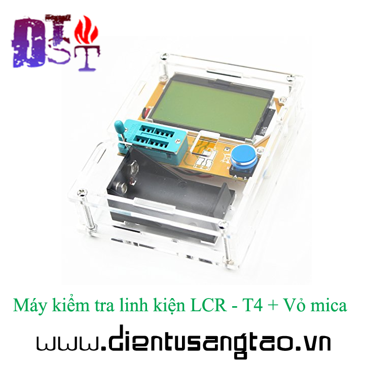 Máy kiểm tra linh kiện LCR - T4 + Vỏ mica