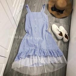 váy xuông chân ren