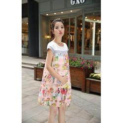 Đầm váy bầu họa tiết độc đáo VB88YK