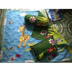 bộ 5 món chăn gối cotton hàn quốc cao cấp cho bé 0 đến 8 tuổi LH ZALO: 0899673032