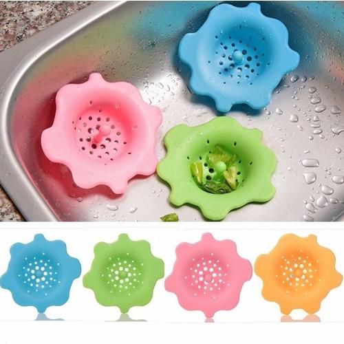 Combo 2 dụng cụ Chậu Rửa Silicon Hình Hoa
