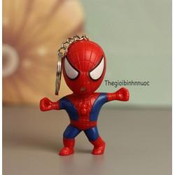 Móc Khóa Có Đèn Phát Sáng Hình Spiderman Xinh Xắn